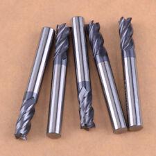 5 Stuecke Hartmetallfräser Bit Set 4-Flöte Schaftfräser 50mm Länge 6mm Schaft