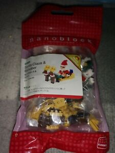 Nano-block Santa Claus & Reindeer set NBC 098 Japanese import  new