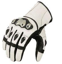 guantes de cuero moto, guantes para moto, guantes motocicleta,Blanco guantes-XL