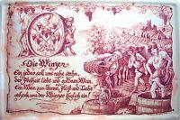 Beruf Winzer Winzerin Blechschild Schild gewölbt Metal Tin Sign 20 x 30 cm