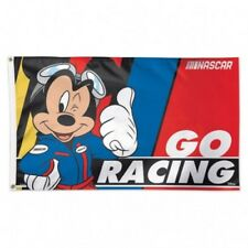Nascar Disney's Mickey Mouse Wincraft Deluxe 3' X 5' Flag w/ Metal Grommets NEW!