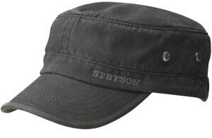 STETSON Vintage Army Cap Datto 1 Black Sun Guard New Trend