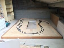 MODEL RAILWAY LAYOUT BOARD WITH RISE AND FALL FACILITY FOR SPACE SAVING SOLUTION