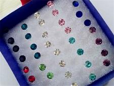 Lots 40pcs Wholesale Lots Crystal Mix Color Earring Stud Jewelry Ear Pin Decor