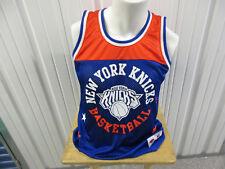 MITCHELL & NESS NEW YORK KNICKS BASKETBALL MEDIUM PRACTICE ORANGE/BLUE JERSEY