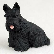 Scottish Terrier Dog Tiny One Miniature Small Hand Painted Figurine