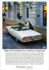 FORD THUNDERBIRD 64 CONVERTIBLE RETRO A3 POSTER PRINT FROM ADVERT 1964