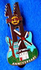 AMSTERDAM 11TH ANNIVERSARY WHITE DUTCH WINDMILL DN GUITAR Hard Rock Cafe PIN LE
