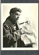 PAUL MUNI WITH MAP - WWII FILM - 1942 COMMANDOS STRIKE AT DAWN -PHOTO BY SCHAFER