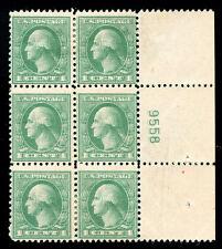 momen: US Stamps #525d Mint OG Plate Block of 6