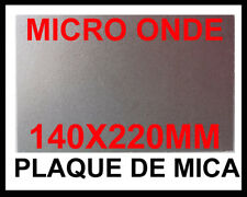 PLAQUE DE MICA 140X220 MM MICA A DECOUPER POUR MICRO ONDE EP 0,4