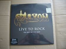 Saxon Live To Rock The Best Of 1991 - 2009 black vinyl 1000 copies HMV EXCLUSIVE