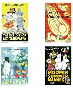 Moomin Poster Print Complete Set  SRA3 size 170GSM Gloss Art Paper.. 4 Posters