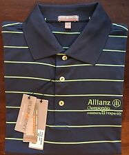 Peter Millar Allianz Insperity Striped E4 Per4mance Element Polo Shirt Size M
