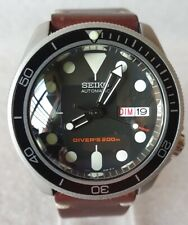 """SEIKO SKX007 Mod """"The Vintage Style"""" NH36A leather strap new"""