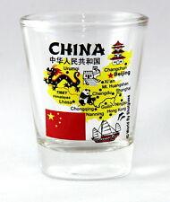 CHINA LANDMARKS AND ICONS COLLAGE SHOT GLASS SHOTGLASS