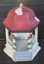 "4 3/4"" x 3.5"" Miniature Holiday Christmas Village Gazebo"
