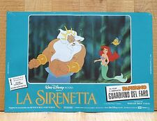 LA SIRENETTA fotobusta poster Walt Disney The Little Mermaid Tritone Ariel AA27