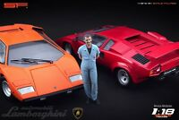 1:18 Valentino Balboni figurine VERY RARE !!! NO CARS !! for Lamborghini by SF