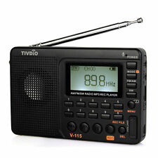 Hot TIVDIO FM /AM /SW  Bass Sound MP3 Player Radio REC Voice Recorder SleepTimer
