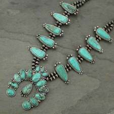 *NWT* Full Squash Blossom Natural Turquoise Necklace-7317510078