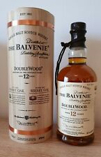 Balvenie 12 Double Wood, Single Malt Whisky mit runder Holzbox. 40% Vol. 700 ml.