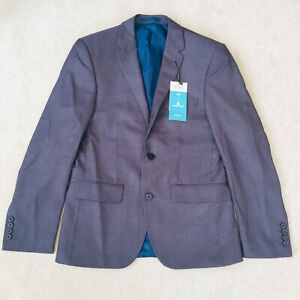 BURTON MENSWEAR LONDON Men's Grey Slim Fit Suit Jacket Formal Blazer 36S R10