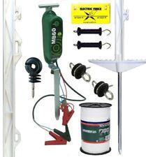 ELECTRIC FENCING STARTER KIT MB60 12V Energiser Fence Posts 12mm Poly Tape Horse