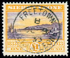MOMEN: SIERRA LEONE SG #180 1933 USED LOT #60036