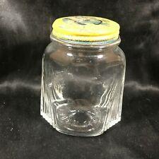 Vintage Glass Nash Quality Donald Duck Mustard Jar