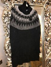 HIGH By CLAIRE CAMPBELL Knitted Poncho Size Large Mohair & Wool Blend. Rrp £250