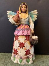 Jim Shore Heartwood Creek Retired 2002 #108918 Angel of Faithfulness Figurine