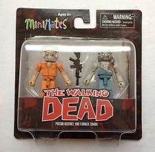 Il WALKING DEAD Serie tre MINIMATES nuovo con scatola CARCERE Hershel e agricoltore Zombie