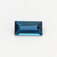 Natural London Blue Topaz AAA Baguette Faceted Loose Gemstones (4x2mm - 8x4mm)