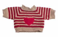 "Heart sweater jumper 16"" Teddy Bear clothes outfit fit 14"" - 18"" build a bear"