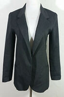 Silence and Noise Womens Blazer Small Black Pinstripe Jacket Long Sleeve Career