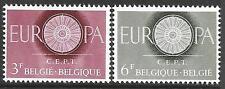Belgio nel 1960 prima ANNIV dei servizi postali e tel-com SG 1746-47 Set 2 MNH.