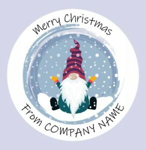 Round Personalised Merry Christmas logo, Round Stickers, Labels (07A)