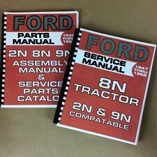 Ford 8n 9n 2n Service Manual Parts Manual Assembly Manual Shop Manual Overhaul