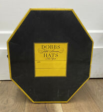 "Vintage Dobbs Octagonal Cardboard Hat Box W/ Insert Empty 13 x 15"""