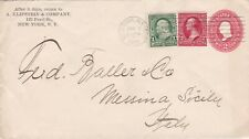 USA 1902 2c Uprated 3c Corner Card PSE New York to Messina Sicily Italy