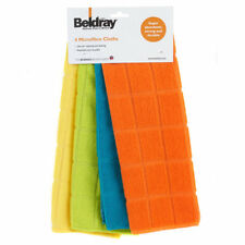 Beldray Microfibre Cloths (Pack Of 4) Cleaning Dusting Absorbant Non Abrasive