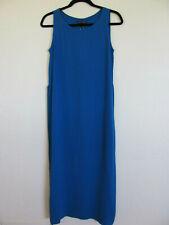Eileen Fisher Full Length Dress-Silk Georgette Crepe-Catalina Blue-Size XXS-NWT