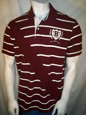 NEW Tommy Hilfiger Large Maroon Cotton Polo Shirt Hudson River Varsity Crew