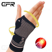 Copper Wrist Brace Support Compression Sleeve Arthritis Fit Carpal Tunnel Hand