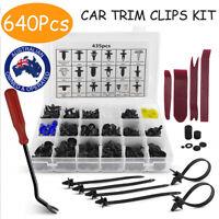 640X Car Body Trim Clips Retainer Bumper Rivets Screw Panel Fastener Push Kit