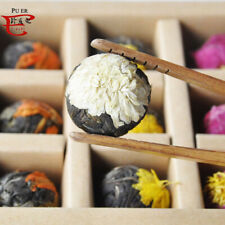 10Pcs Handmade puer tea Chinese Green Artistic Blooming Flower Tea Ball gift