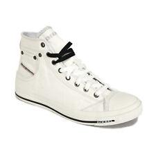 DIESEL-Hommes High Top Sneaker Chaussures De Loisirs-Aimants Exposure I-Blanc