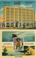 Linen Postcard Hotel Como + Other Views, Hot Springs National Park, Arkansas Ar