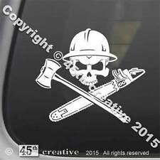 Logger's Crossbones Decal sticker - logging skull sticker logger hard hat decal